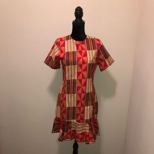 African Print Dress. Brand New with a back zipper.